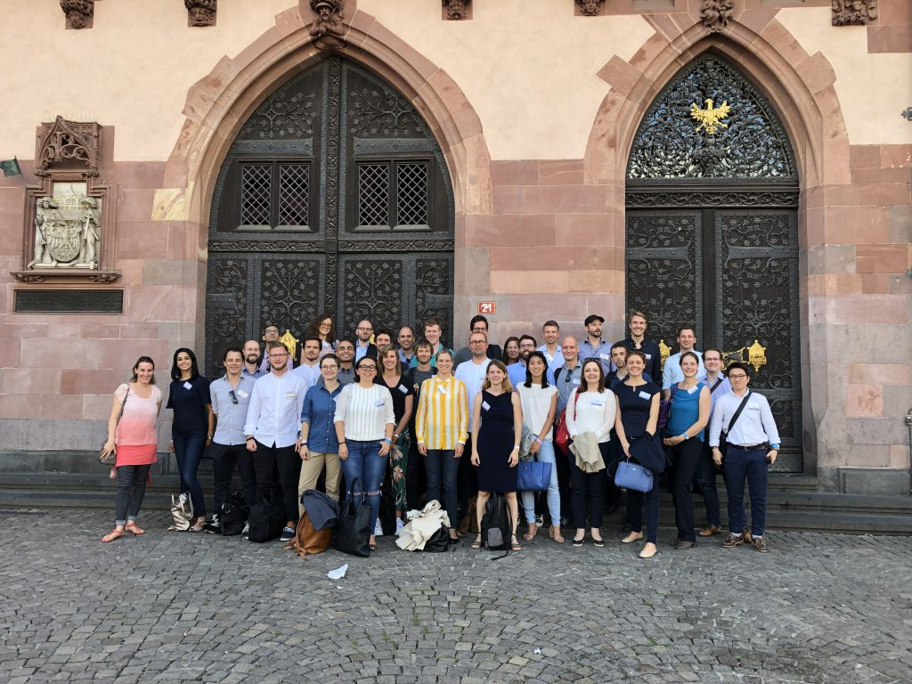 Participants in front of the historic Frankfurt Römer